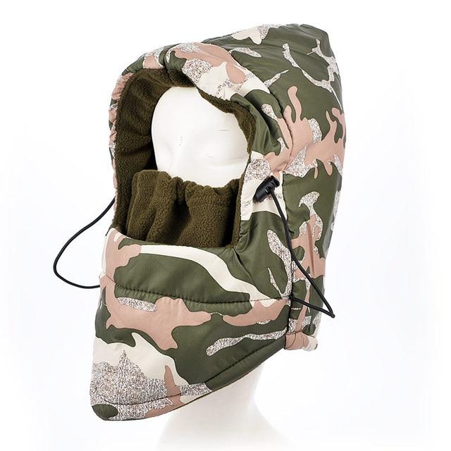waterproof Thermal Fleece Balaclava Hat men Hood Ski Bike Wind Stopper Face Mask Unisex Neck Warmer Winter Motorcycle Neck cap