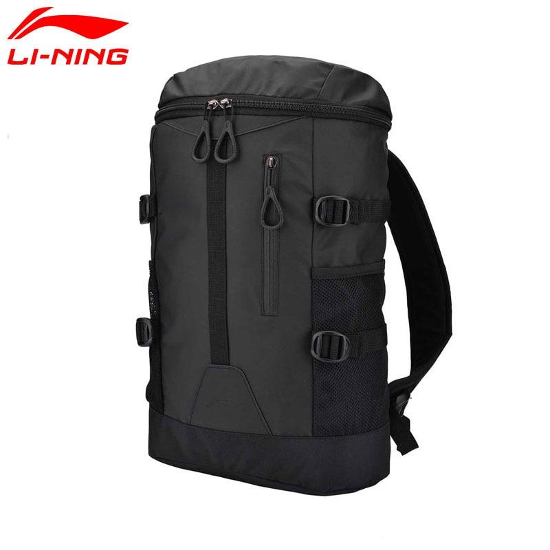 Li-Ning Unisex Urban Sport Backpack 300*170*510mm Polyester 26L Capacity LiNing Li Ning Sports Bags ABSM164 BBF237
