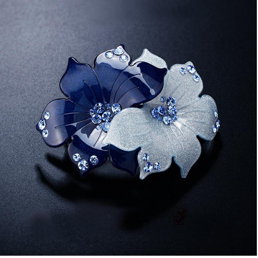 Virágos hajcsipesz - Hajtartozék - Acetát strasszos hajékszer - Divatékszer - Fénykép 5