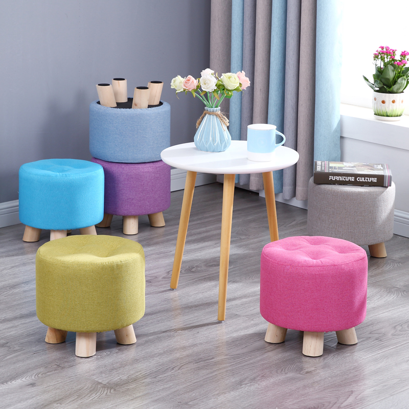 Living Room Stool Fashion Home Creative Sofa Round Tea Table Mound Chair Small Minimalist Modern Decoration