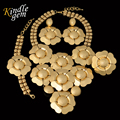 Brand Large Maxi Necklace Set Unique Dubai African Jewelry Set For Women  Luxury Real Gold Plated  Costume Jewelry Parure