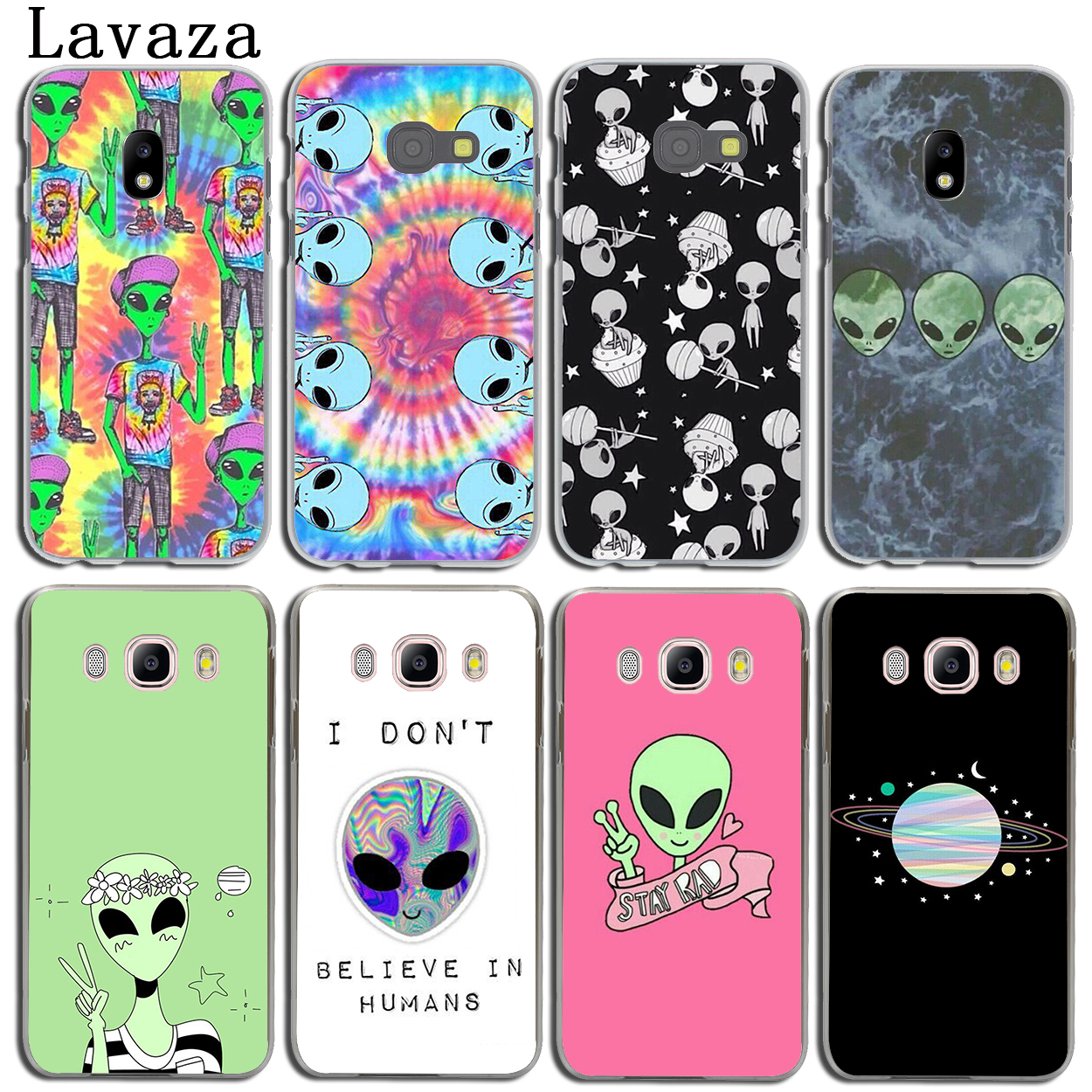 Lavaza Trippy Alien emoji Phone Shell Cover Case for Samsung Galaxy J3 J1 J2 J7 J5 2015 2016 2017 J2 Pro Ace J7 J3 J5 Prime Case