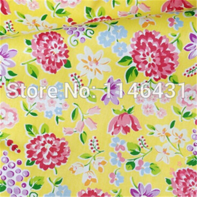 New 1 Meter Twill Patchwork Yellow Fabric Cotton Quilting Fabric