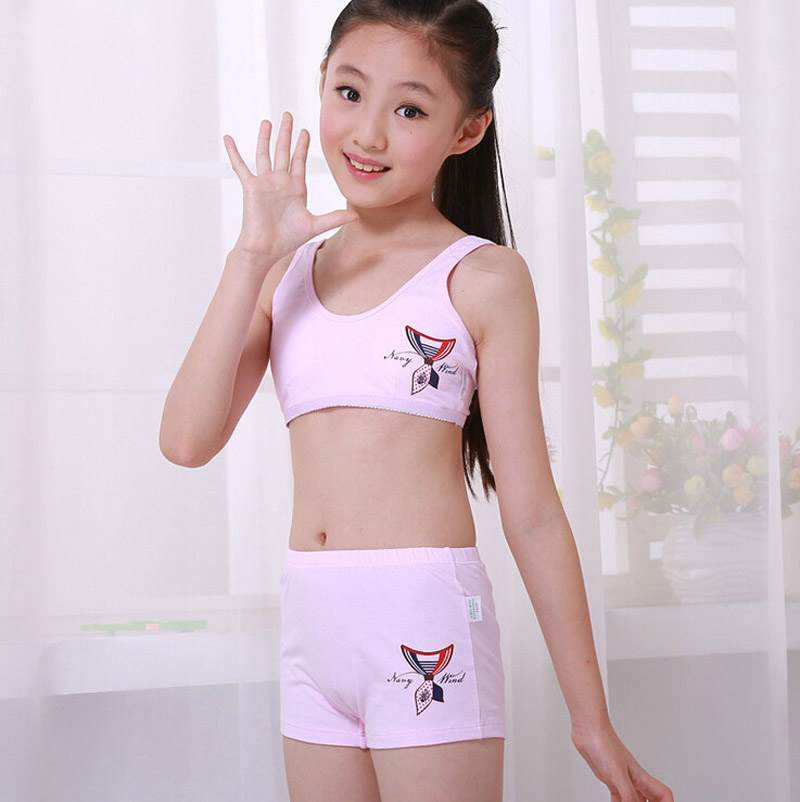 acadcdda3d ... Training Bra With Matching Pants S0336(China. Aliexpress.com   Buy  4sets lot Puberty Young girl student .