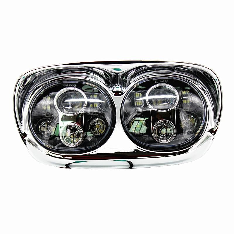 1 SET LED-strålkastare 2: a strålkastare Touring Road Glide-lampa - Bilbelysning - Foto 2