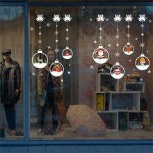 Decoración de Navidad ventana pegatinas Auto adhesivo colgante bola de nieve  colgante Año Nuevo Festival de c04b5d7c879dd