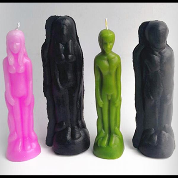 Pack Of 2 Women & Men Body Shaped Candle Mold Plasitc Soap Making Molds For Handmade Soap, Wax, Decorative Candles, Craft