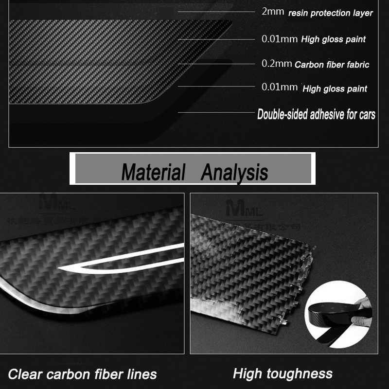 Carbon Fiber Side Door Scuff Plate Door Sill Car-Styling For Seat Alhambra Altea Cordoba Exeo Lbiza Leon Nuevo Lbiza Toledo Exeo