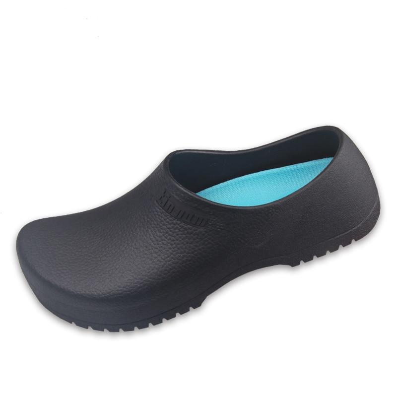 2018 Neue Männer Der Chef Küche Arbeits Hausschuhe Garten Schuhe Sommer Atmungs Maultiere Clogs Männer Anti Slip Unisex Schuhe Sandalen Und Verdauung Hilft