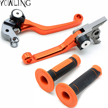 Pivot Foldable brakes clutch lever brake lever throttle grip rings cable handlebar grip For 65 SX 65XC 85 SX 2004   2011
