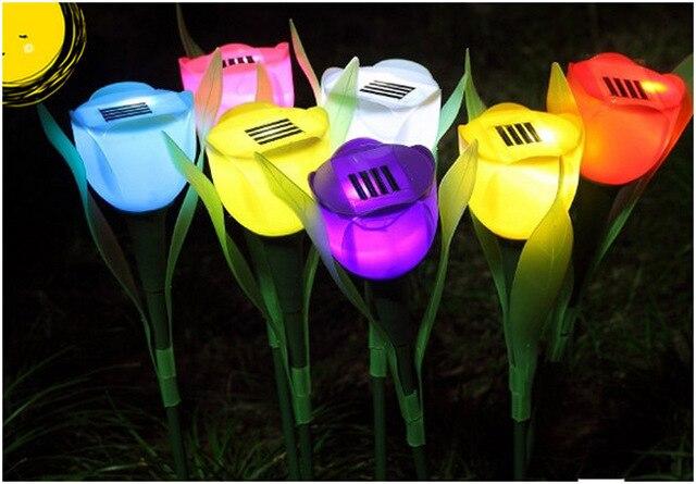 Led Lampjes Tuin : Stks partij outdoor tuin licht solar tulp bloem licht