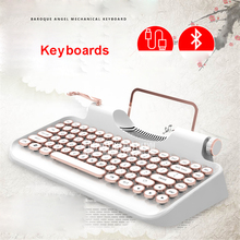 Bluetooth 83 keys Led mechanical Wired USB bluetooth tablet steampunk Keyboard Gaming for ipad Macbook Windows Android IOS