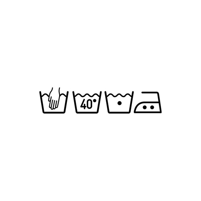 Washing Machine Symbols – 75 x 16 cm made of removable pvc