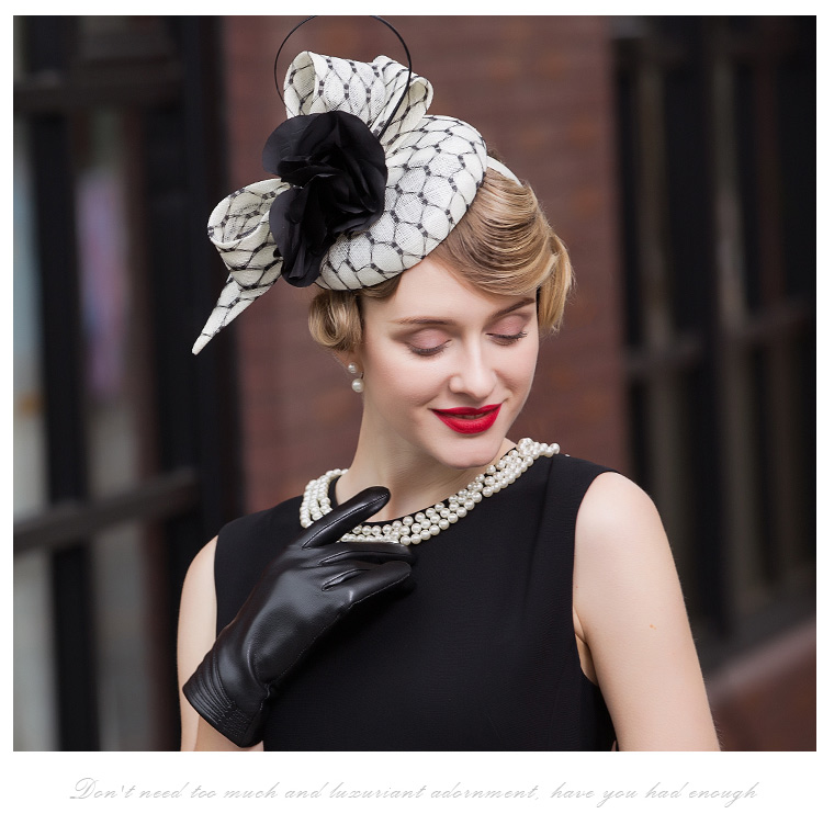 dc07490bc43 Detail Feedback Questions about FS Fascinator Black and White Hat ...
