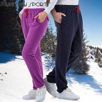 Polar Fleece Fabric Soft Shell Fleece Pants Lacing Foot Pants Shut Pants Outdoor Autumn And Winter
