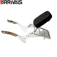 Motorcycle Detachable Backrest Sissy Bar Luggage Rack For Yamaha Vstar V Star V Star DragStar 1100 XVS XVS1100