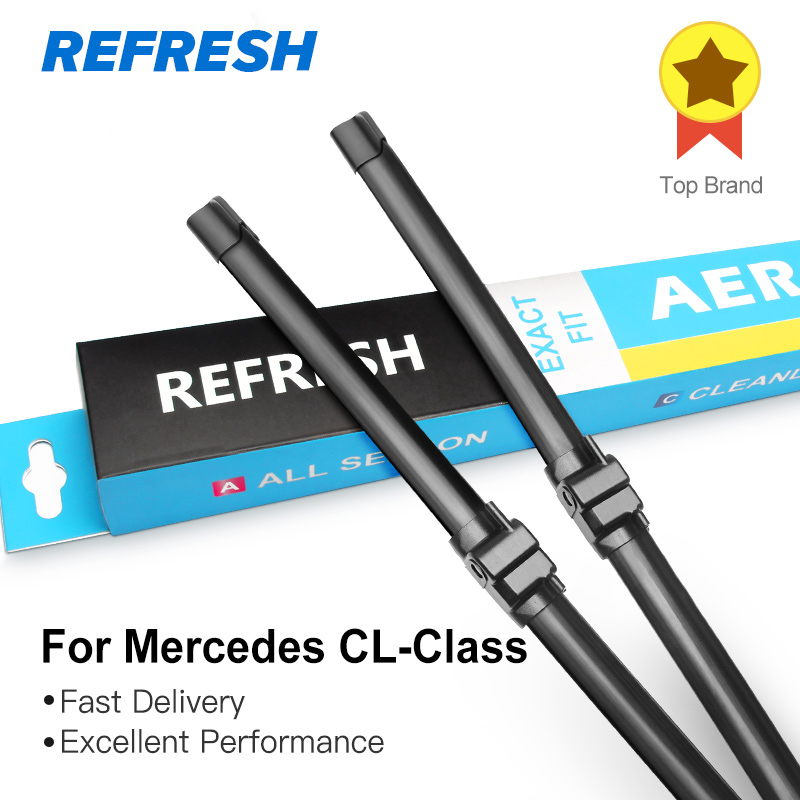 Odświeżyć wycieraczki dla Mercedes Benz CL W215 W216 Fit Side Pin ramiona modele CL 500 600 55 63 65 AMG 4Matic