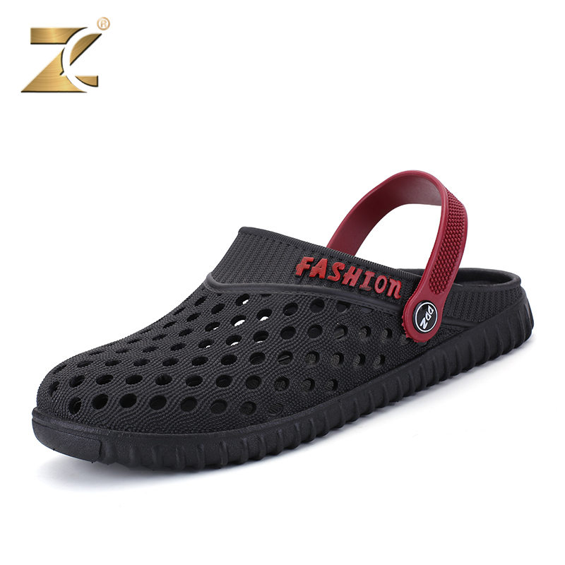 Z famous summer men sandals max 2017 new listing brand fashion slippers beach non - slip wear resistant flats shoes size 40-44 2016 summer new boys and girls shoes korean sports beach sandals wear non slip