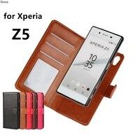Премиум кожаный чехол держатель для карт кобура Z5 флип чехол для Sony Xperia Z5 Dual E6603 E6633 E6683 фоторамка Модный чехол для телефона с изображением