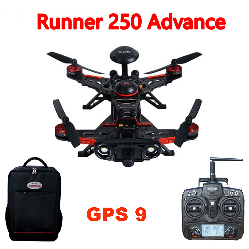 Walkera Runner 250 Advance Runner 250(R) Racer RC Drone Quadcopter with DEVO 7 / 1080P Camera /OSD / backpack GPS 9 Version RTF цена