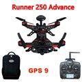 Walkera Runner Runner 250 Antecedência 250 (R) Racer RC Drone Quadcopter com DEVO 7/1080 P Câmera/OSD/GPS mochila 9 Versão RTF