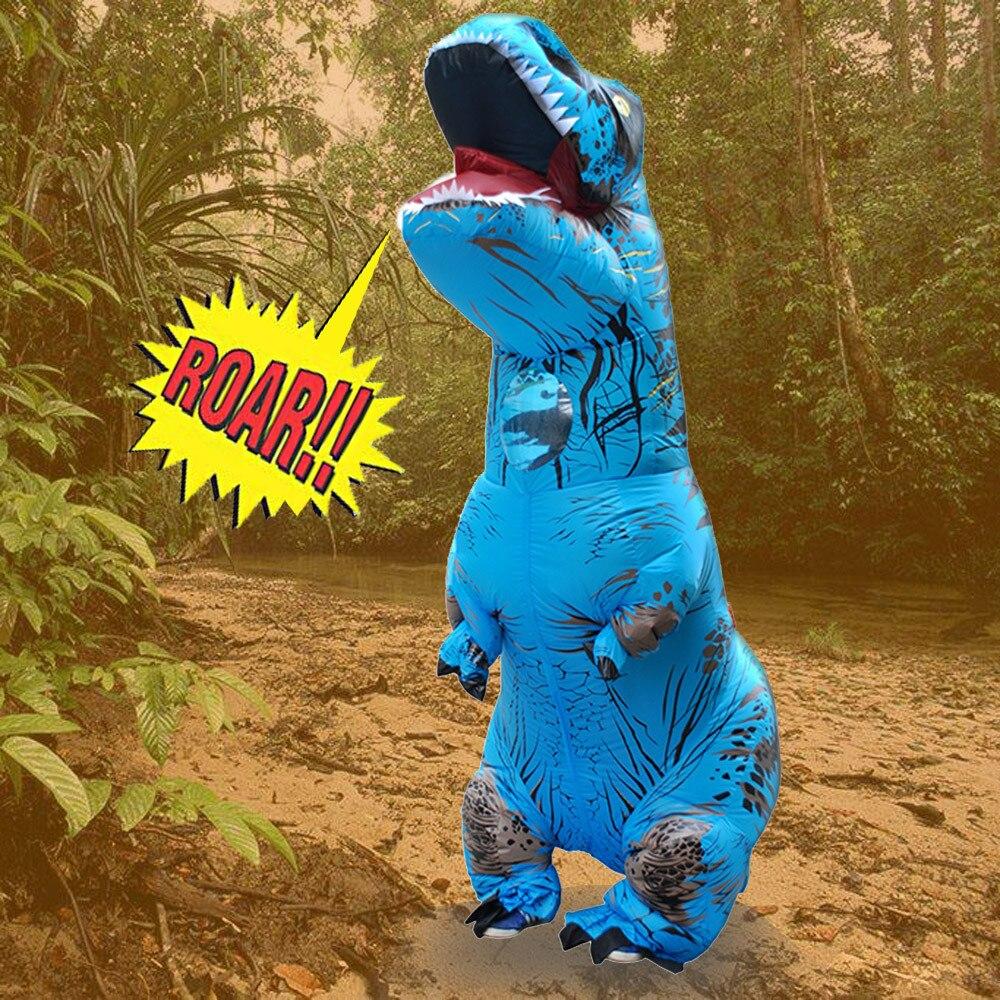 Haute qualité polyester imperméable Adulte Gonflable T-Rex Trex Dinosaure Blow Up Fantaisie Costume Costume Partie Partie Jouet 2SW0823