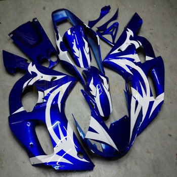 Custom motorcycle article for YZF R6 1998 1999 2000 2001 2002 YZF-R6 motor panels+Bolts+blue ABS fairing