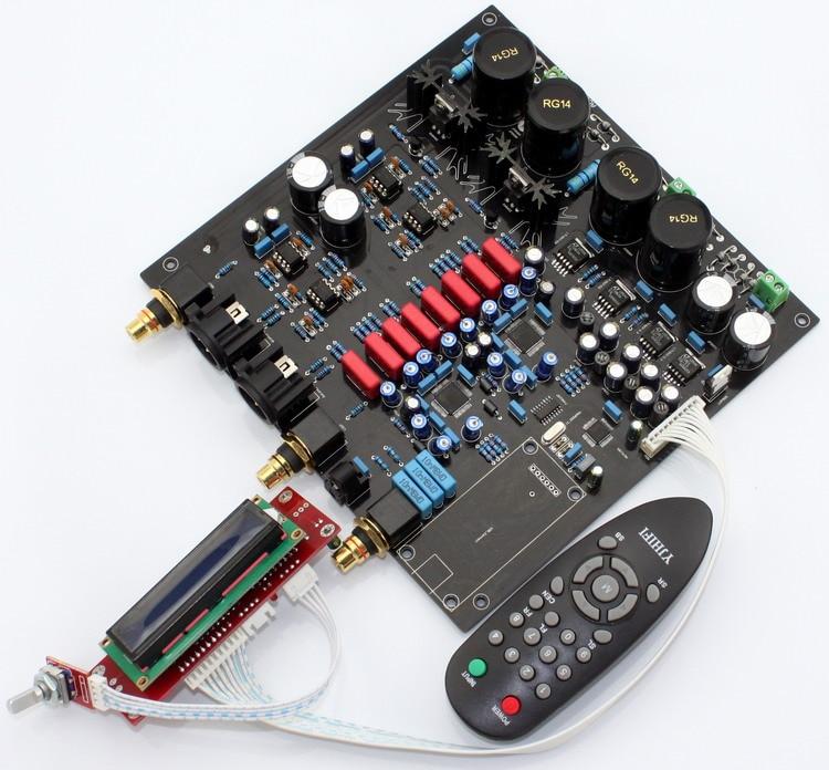 AK4497EQ * 2 + AK4118 Soft Control DAC Decoder Board With LCD Display/Remote Control (No AK4497 Chip And U8 Daughter Card)