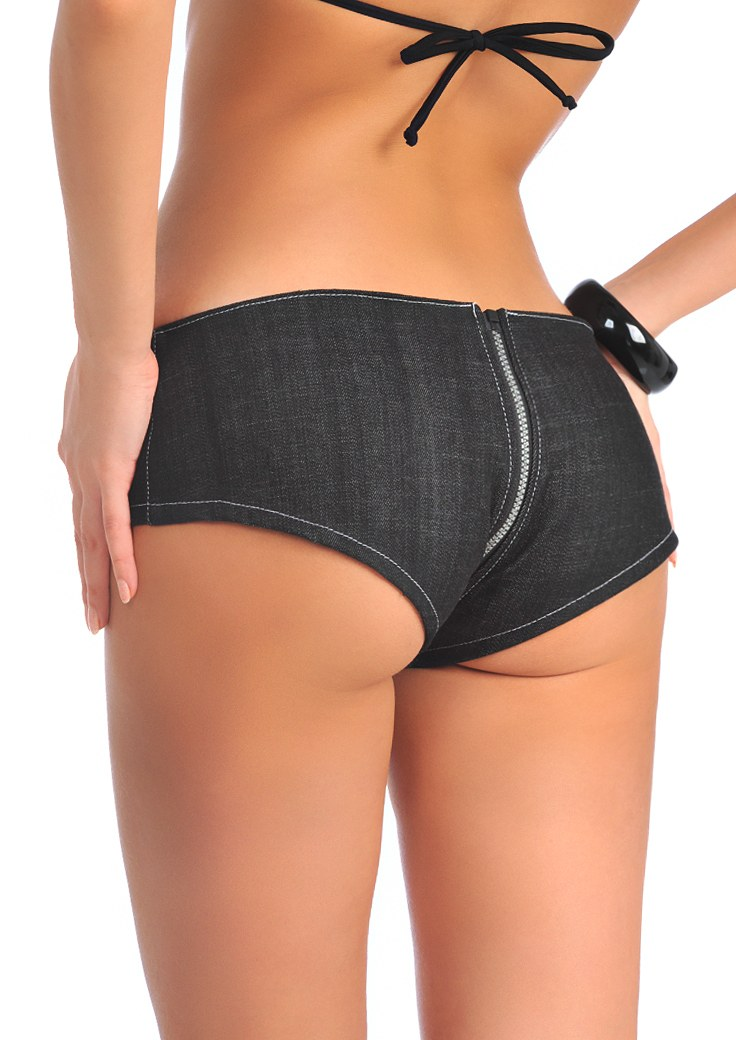sexy vintage booty jean shorts zipper crotch hot pants. Black Bedroom Furniture Sets. Home Design Ideas