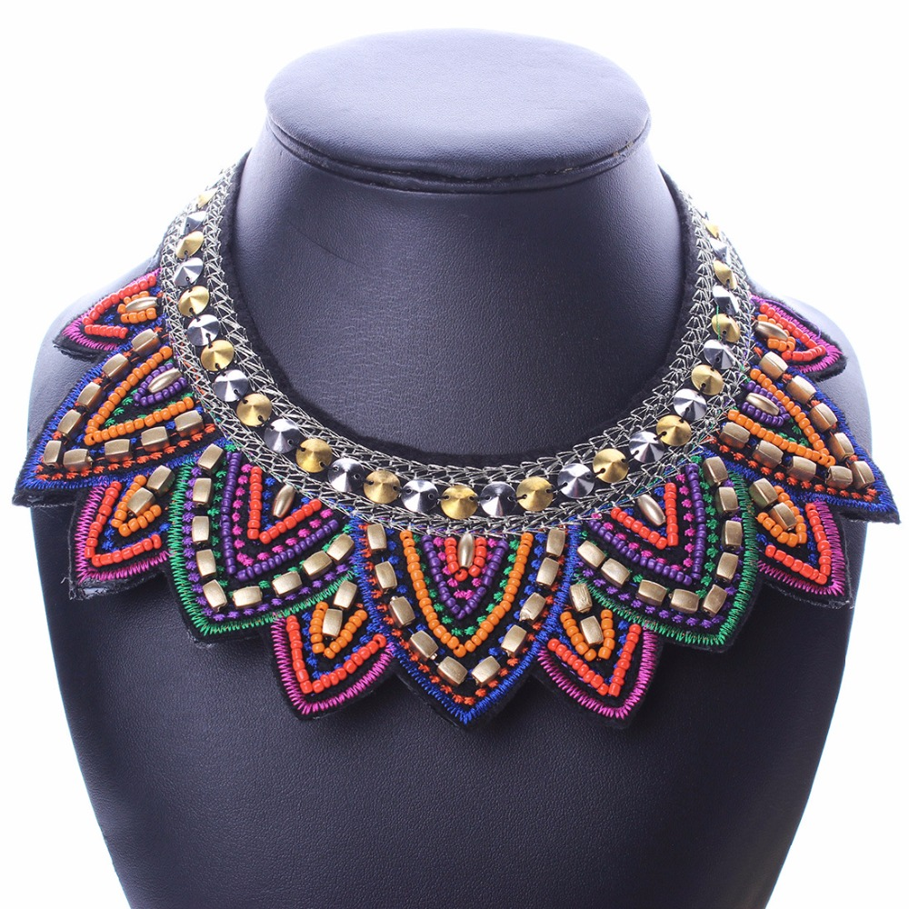 pendants choker and collar necklace boho item candy accessories dress wholesale women handmade in beads necklaces from fashion pendant multicolor statement for jewelry