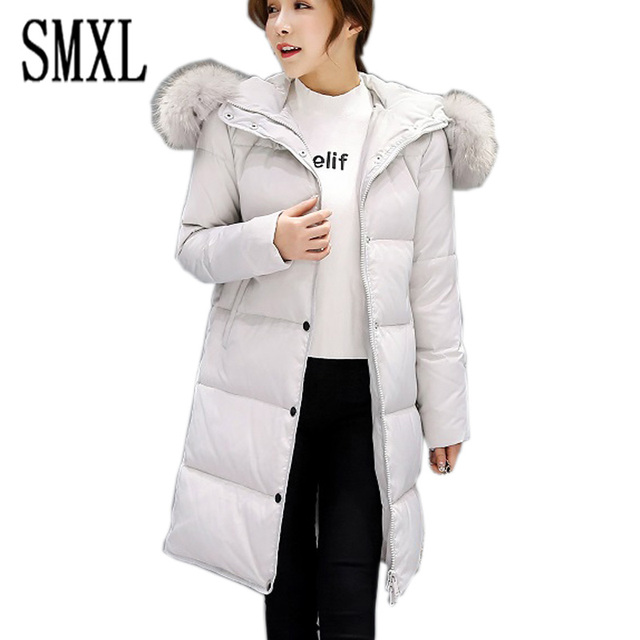 426e37eb3 US $60.0 |SMXL plus size x Long Winter Jacket Women Slim Coat Thicken Parka  Down Clothing black Hooded Jackets sonw outerwear keep warm-in Down Coats  ...