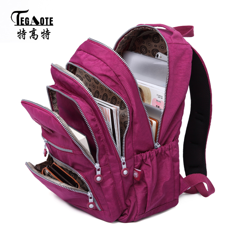 TEGAOTE School Backpack for Teenage Girl Mochila Feminina Women Backpacks Nylon Waterproof Casual Laptop Bagpack Female 2017