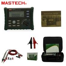 MASTECH MS5203 Megger Medidor de Resistencia de Aislamiento Tester Multímetro Digital de Alta Precisión 10G 1000 V Medidor De Aterramento