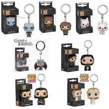 Pop Song Of Ice And Fire Game of Thrones HBO Jon Snow Daenerys Fantasma Noite Rei Acessórios KeyChain figura modelo coleção toy(China)