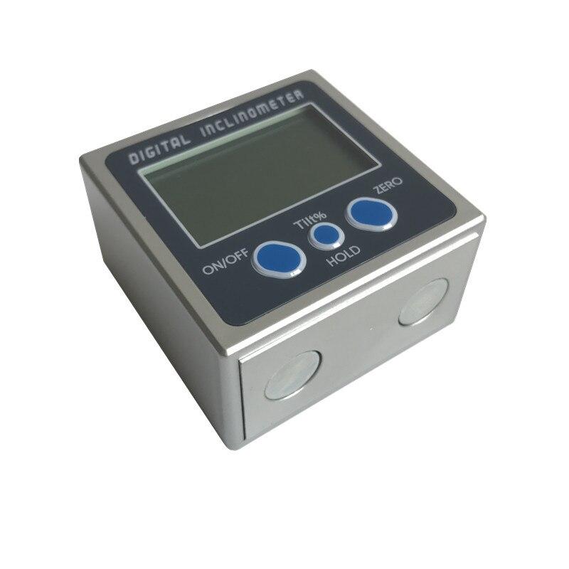 90A Angolo Inclinometro Digitale Goniometro Bevel Box Elettronico Strumento di Misura Misuratore di Livello Angle Finder Base In Alluminio