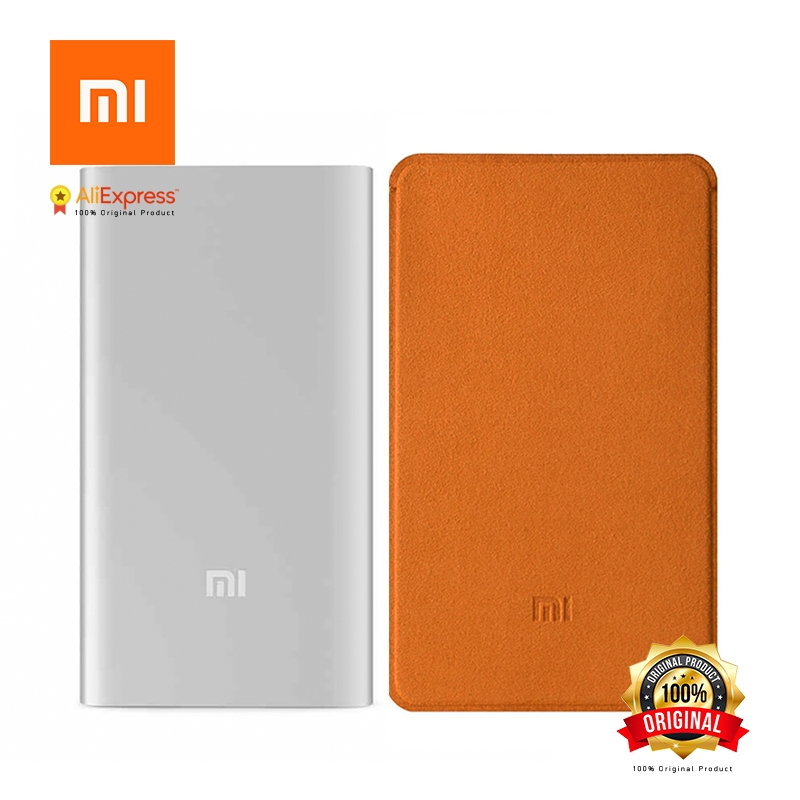 Xiaomi Original Mi Power Bank 5000 mAh Gift Original Mi Case Portable Charger Slim 5000mAh PowerBank External Battery Pack easyacc 4000mah power bank ultra slim portable external battery