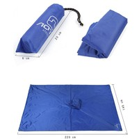 AOTU משולב חיצוני טיפוס רכיבה על אופניים גשם כיסוי לשלושה מחצלת קמפינג אוהל עמיד למים תרמיל טיפוס מעיל גשם פונצ 'ו
