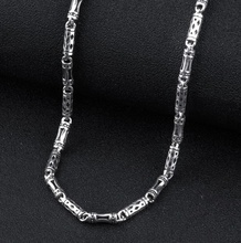 925 sterling silver men's long thick cross link chain necklace retro fashion thai silver jewelry (HY)