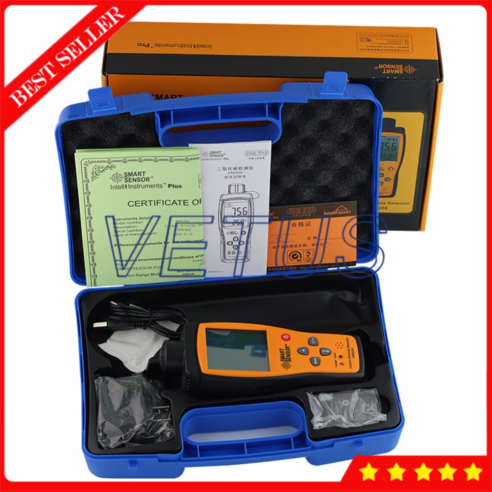 AR8200 Digital CO2 Gas Detector with 350~9999PPM Handheld Carbon Dioxide Meter Tester gas Analyzer portable handheld carbon dioxide detector precision co2 meter high quality gas detector tester