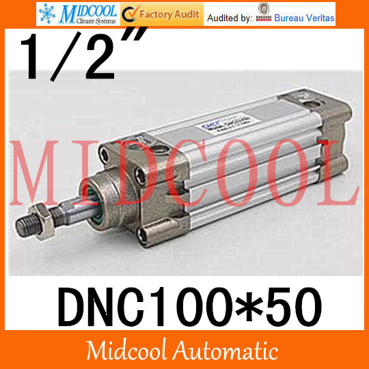 DNC series ISO6431Standard Squareness cylinder DNC100*50  port 1/2 bore 100mm