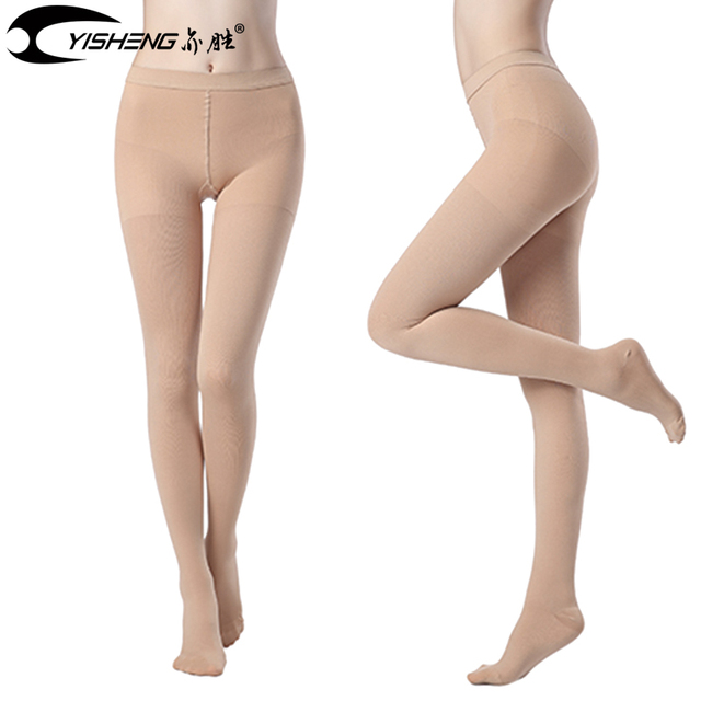 24d2c94597 YISHENG Medical Compression Stockings Closed Toe Varicose Veins Pantyhose  Compression Pants for Women