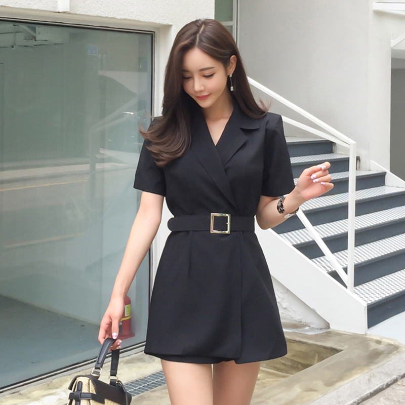 new arrival ladies fashion temperament comfortable jumpsuit elegant work style high quality vintage cute black playsuit jumpsuit