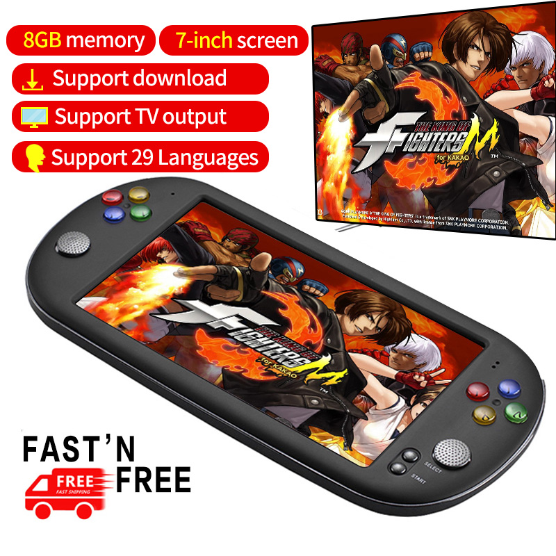 X16 Video Game Console 7 inch Handheld Portable MP4 Gamepad Built in 999 games for FC/GB/ GBC/GBA/CPS format