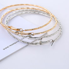 SUKI Simple Matt Silver Gold color Big Hoop Earring For Women Statement Fashion Jewelry Accessories Large Circle Round Earrings(China)