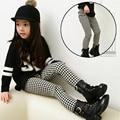 Fashion Baby Girls Clothing Plaid Leggings Black&White Sweet Honey Girls Spring Autumn Leggings Kids Clothing Children Clothes