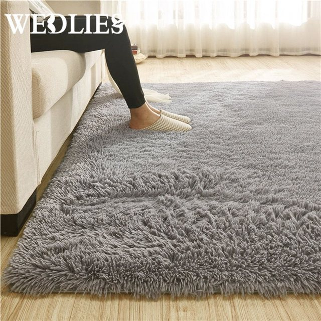 110x160cm fluffy rug anti skid shaggy area rug dining room carpet