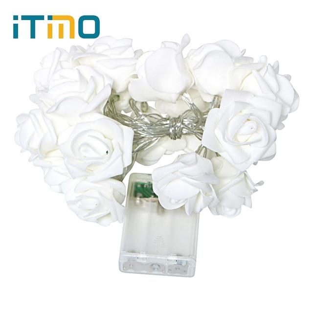 d4c880589f88 US $2.85 29% OFF|20 LED Rose Blume Licht Fairy Lampe Flasher 3 Farben  Startseite Hochzeit Lichterkette Garten Valentinstag Dekorative beleuchtung  in ...