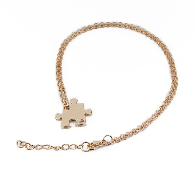 Купить женский набор для 4 семьи цепочка с кулоном пазлом ожерелье