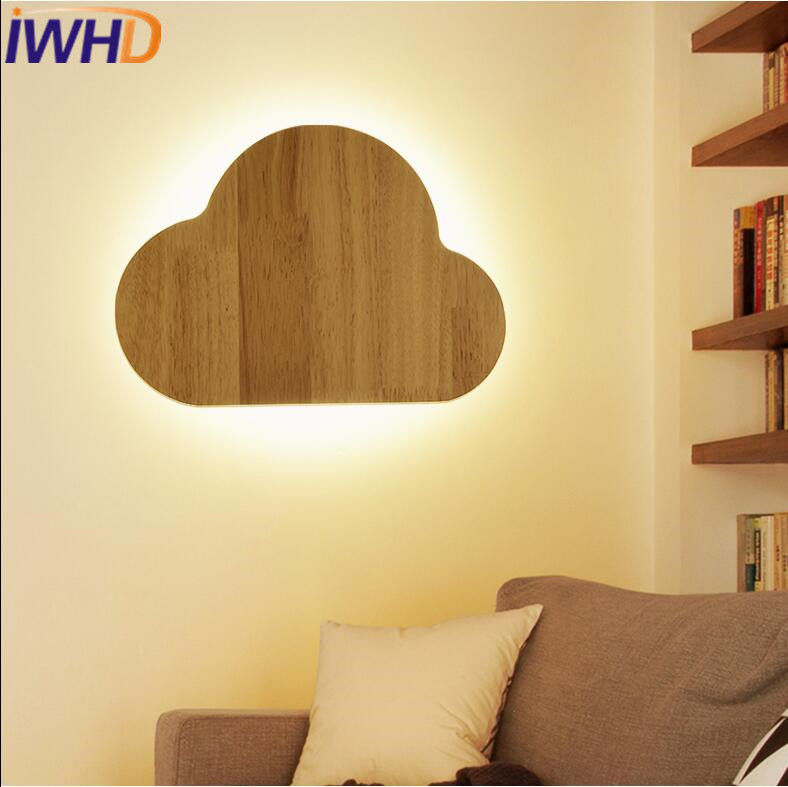 IWHD Led Wall Lamps Modern Fashion Wood Sconce Wall Lights For Home Lighting Stairs Bedroom Light Fixtures Apliques De Pared bedside wooden wall lamp wood glass aisle wall lights lighting for living room modern wall sconce lights aplique de la pared
