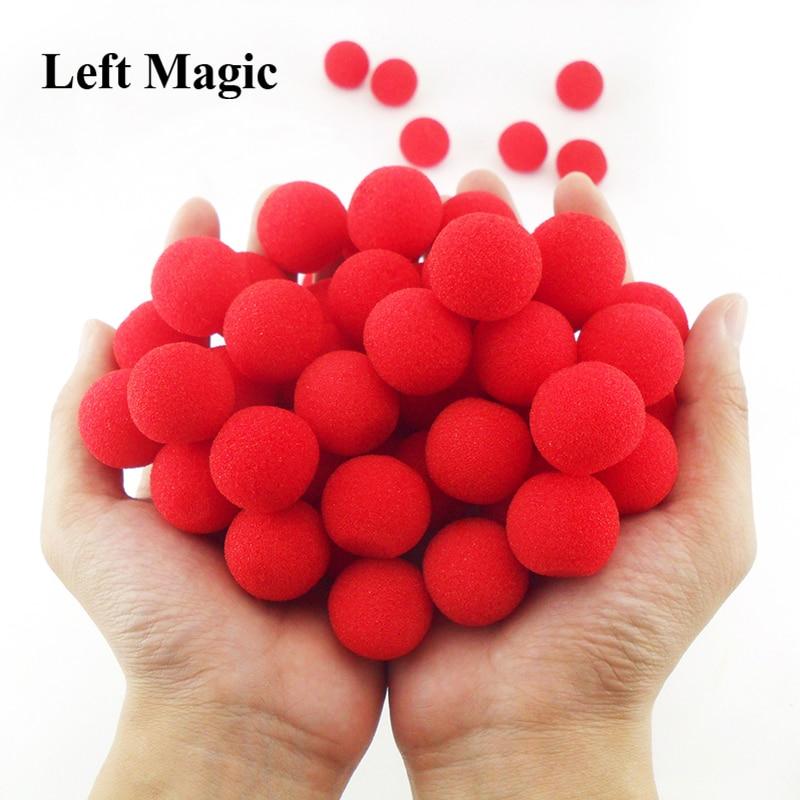 10PCS 2.5cm Finger Sponge Ball Magic Tricks Classical Magician Illusion Comedy Close-up Stage Card Magic Accessories E3132